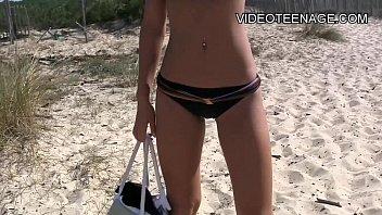 beach teen spycam Super busty milf honey gets a real big cock 5