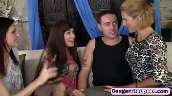 boys horny their of cum loads sharing three twink Tacky mom has a threesome with the police