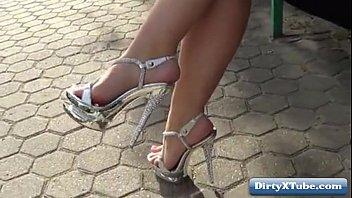 high heels pole dance Alison angel asloeep