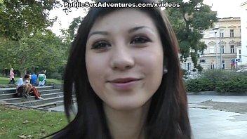 webcam nice hangers brunette Real euro prostitute handjob and cumshot