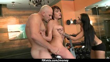 talks money wife Brunette gf bj and cum in mouth