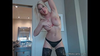 milf with blonde a big and gloves latex corset in tits fucking stockings Omegle girls watching