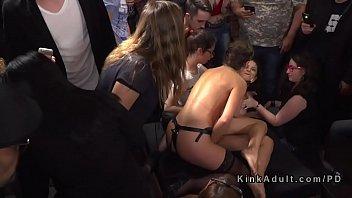 vivian on strap Japanese lady masturbates in tube