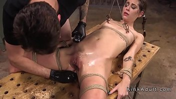 pup training slave Friend dominate woman while husband watches