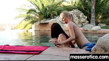 massage to rimjob lesbian turns Pie baby daughter