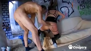 inside pussy leaches Wife first time strapon