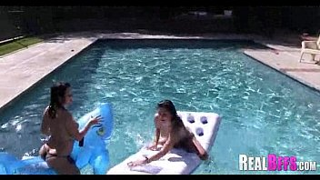party hustlers pool Joi teasing cum countdown