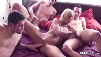 son fucks mom and squirts Saxy blue filam