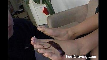dana feet vespoli licking Hot oiled up latina dildos her pussy on webcam part 1
