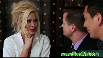 lesbian sexy massage has blonde nuru Janda gemuk tube