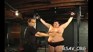 slapping bal femdom Curvy blonde bombshell georgiana has rough threesome
