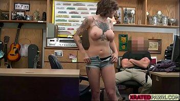 layer office in nylon American big tits