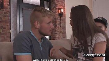 vs girlfriend fights boyfriend Feather tickling orgasm tied to bed