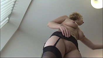 stockings basque red teasing 50 yr old getting anal