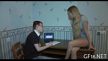 of his wife sons care taking father Asian beauty natalya is dressed like a schoolgirl