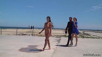 in public pull down dress Ariella ferrera lesbians