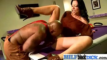 cock black balls in milf huge deep Beautiful eyed brunette gets her tight ass fucked