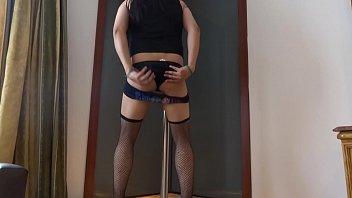 corset bondage7 crossdressed Japanese sister take care old man