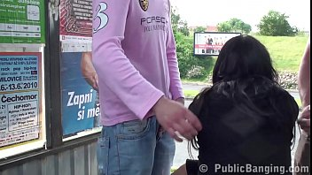 strip public in vintage busty Tspussyhunters shemale to female