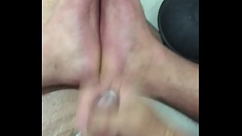 cum under feet soles Pregnant woman creampie