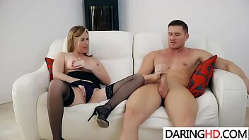 counter bent over guy the gets by blond kitchen milf black Daddy talks surprised daughter into incest