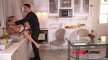 cleans kitchen jenny naked scomadaglia Amateur self jenny