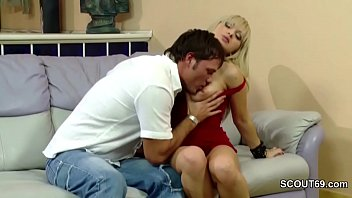 mom seduced fucked step blonde bed in and Secret footjob part 2