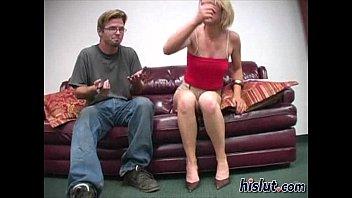 gives handjob son mon Cuckold wife screams while creampie d